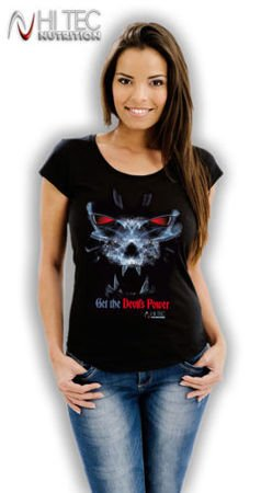 T-shirt damski nadruk BLACK DEVIL