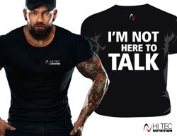 T-shirt męski nadruk IM NOT HERE TO TALK