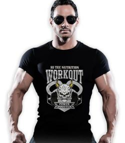 T-shirt męski nadruk WORKOUT